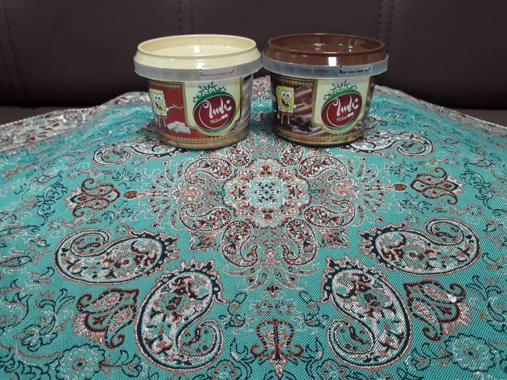 کرم کنجد عسلی و ارده شکلاتی